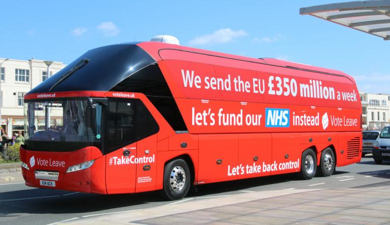 Vote Leave £350m bus