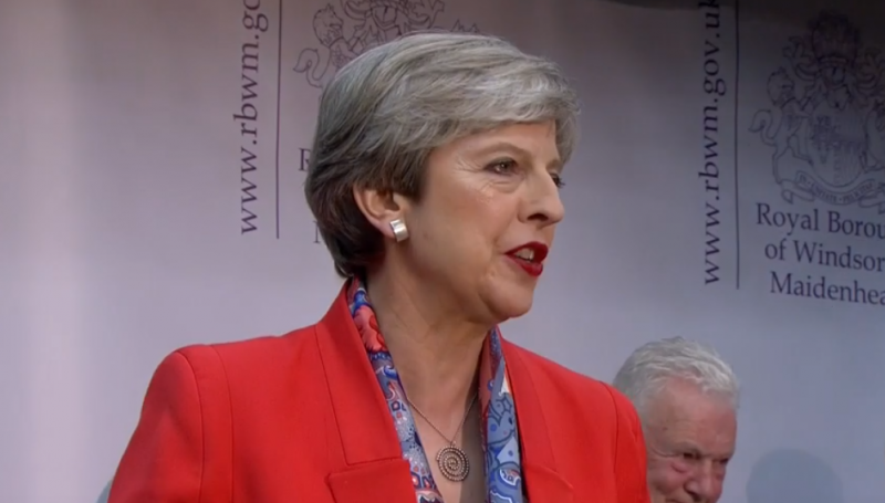 Theresa May acceptance Speech Maidenhead